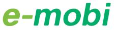Logo der Ladekarte von E-mobi Latvia