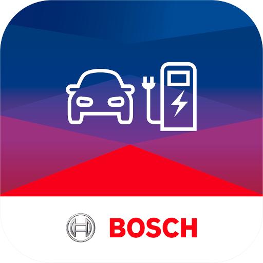 Logo der Ladekarte von Bosch Charge My EV
