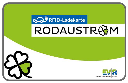 Logo der Ladekarte von Rodau Energieversorgung