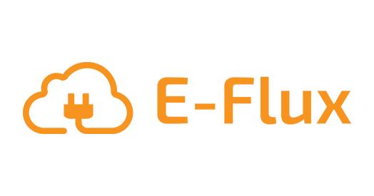 Logo der Ladekarte von E-Flux Orange | Pay as you charge